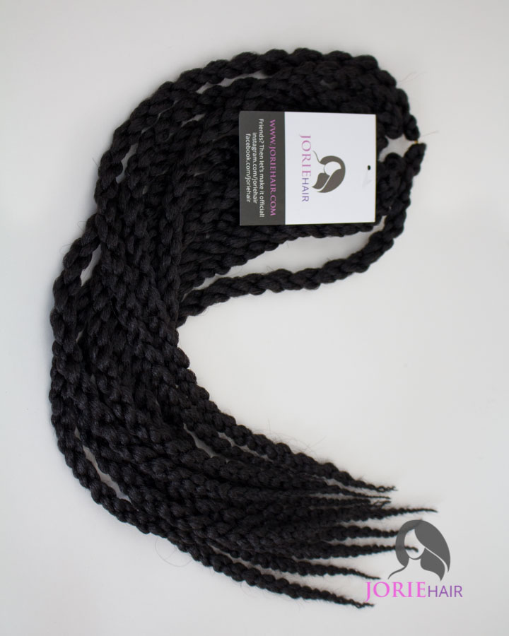 Jorie 3D Crochet Twist Braid 1B Off Black