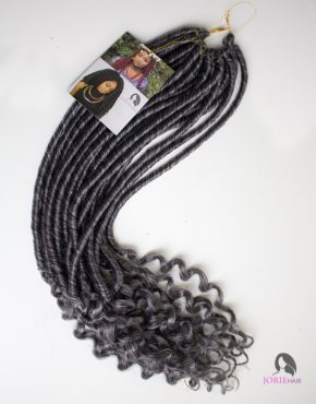 crochet faux locs goddess wavy colour grey