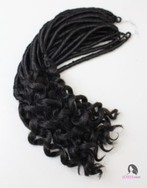 short goddess faux locs crochet braids