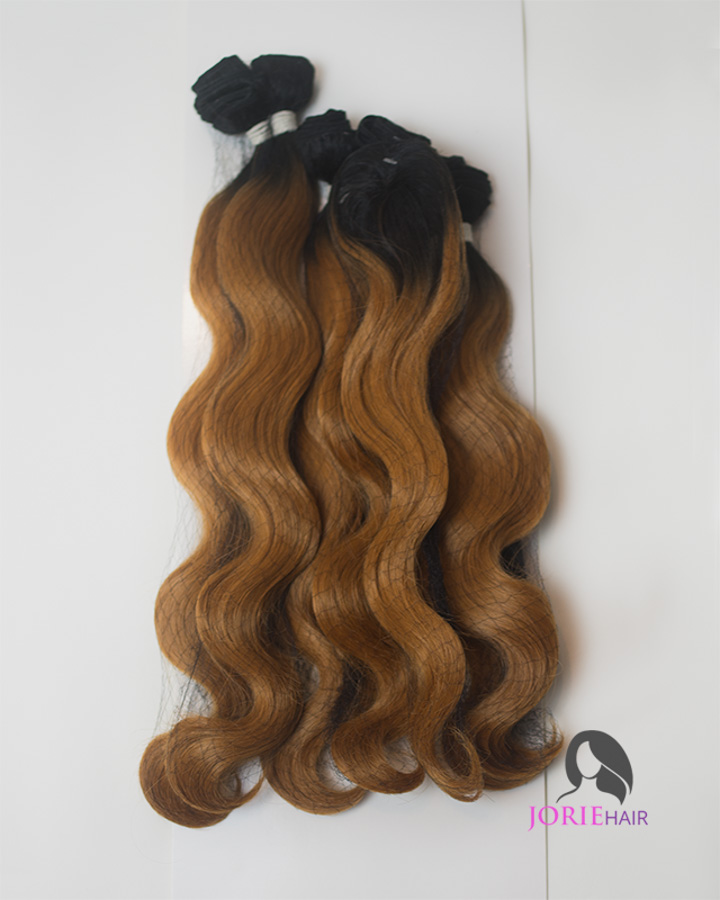 16 18 20 Body Wave Ombre Set Honey Blonde Human Hair Blend