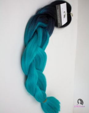 Aqua Expression Ombre Jumbo Braiding Hair