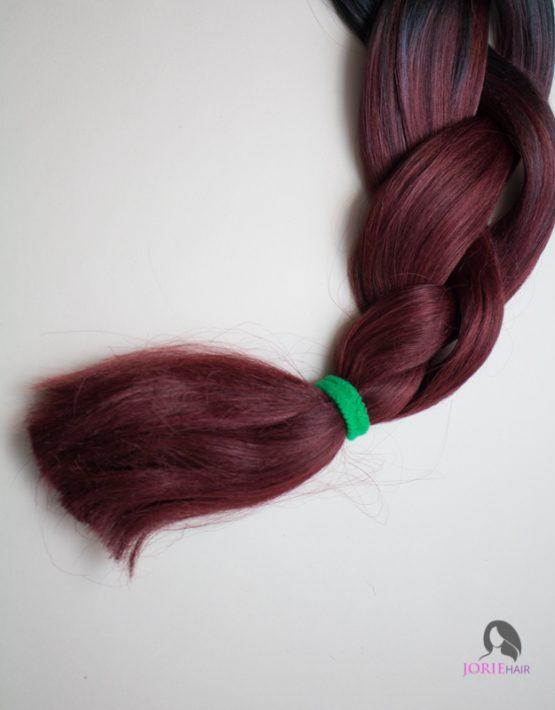 burgandy tips expression ombre jumbo braiding hair