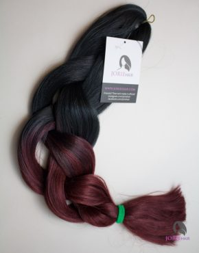 burgandy expression ombre jumbo braiding hair