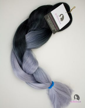 silver expression ombre jumbo braiding hair