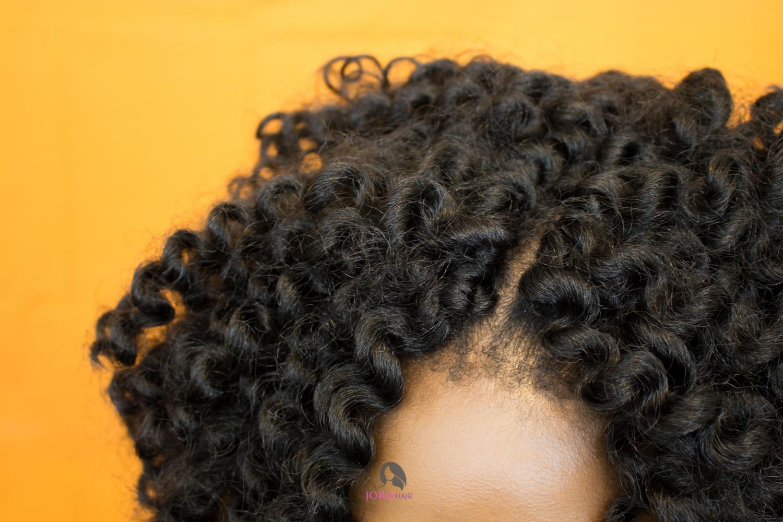 knotless crochet braids curls