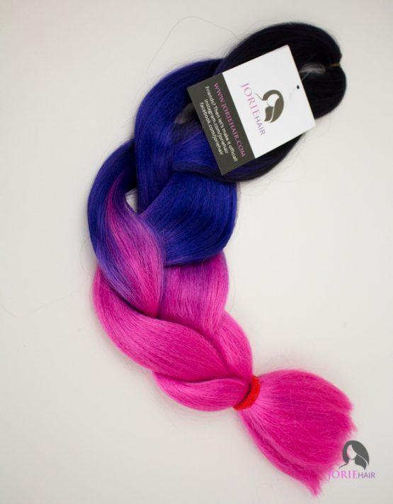 3 tone purple pink expression ombre jumbo braiding hair