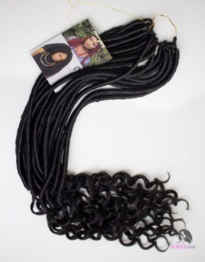 crochet faux locs goddess wavy colour 1b
