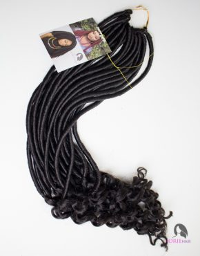 crochet faux locs goddess wavy colour 2