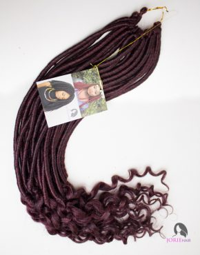 crochet faux locs goddess wavy colour 99j
