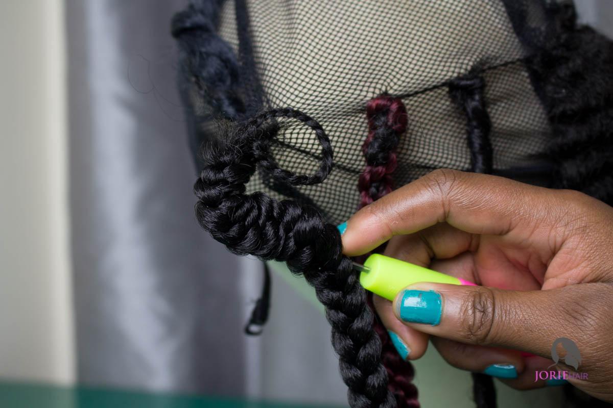 Individual crochet braids tutorial-6