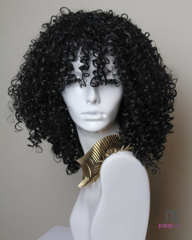 Addy Kinky Curly Black Synthetic Wig Jorie Hair