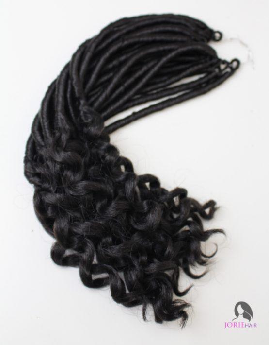 short goddess faux locs crochet braids