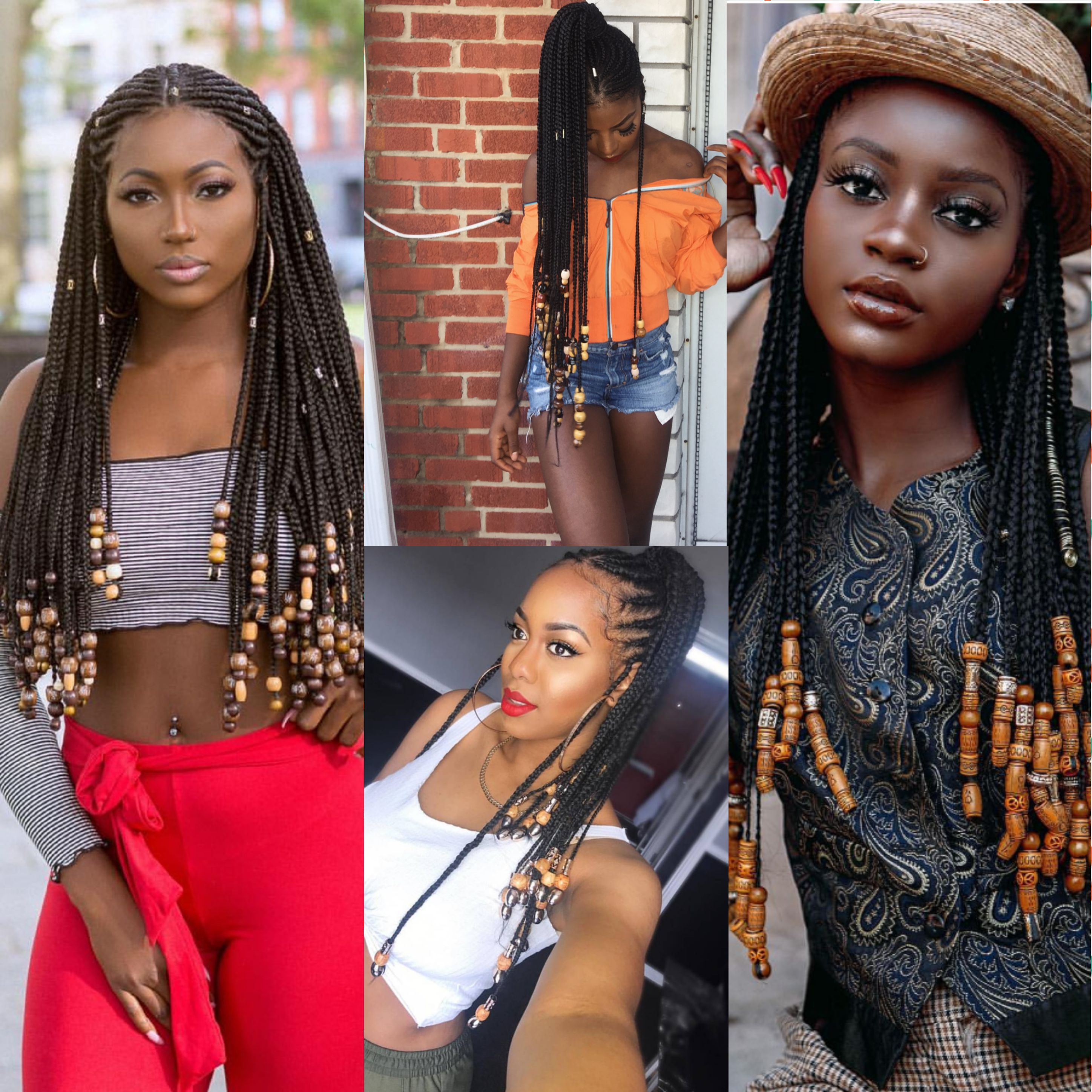 Beads And Braids Hairstyle Inspiration