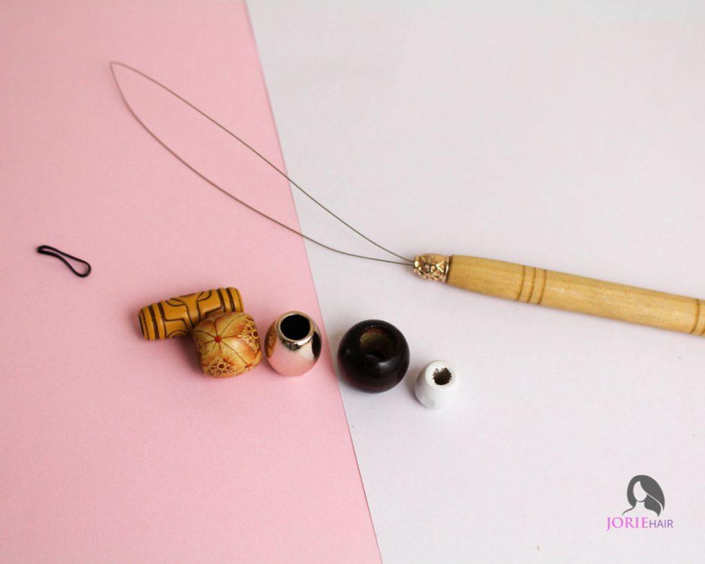 hair beader tool and beads 1