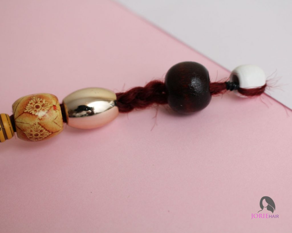 large hair beads and rubber band 7