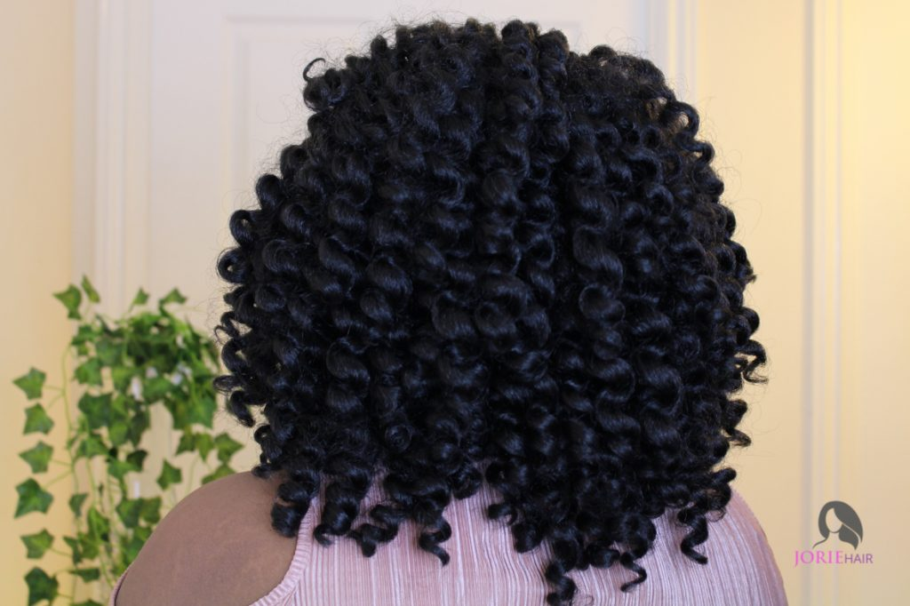 crochet curl hairstyle - braidless crochet braids tutorial - back view