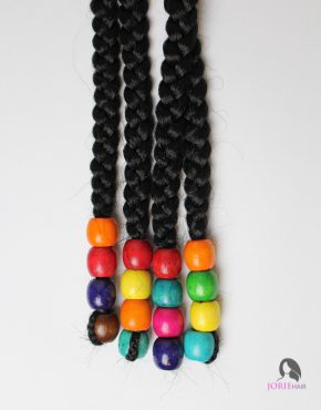 large hair beads rainbow kisses colourful beada