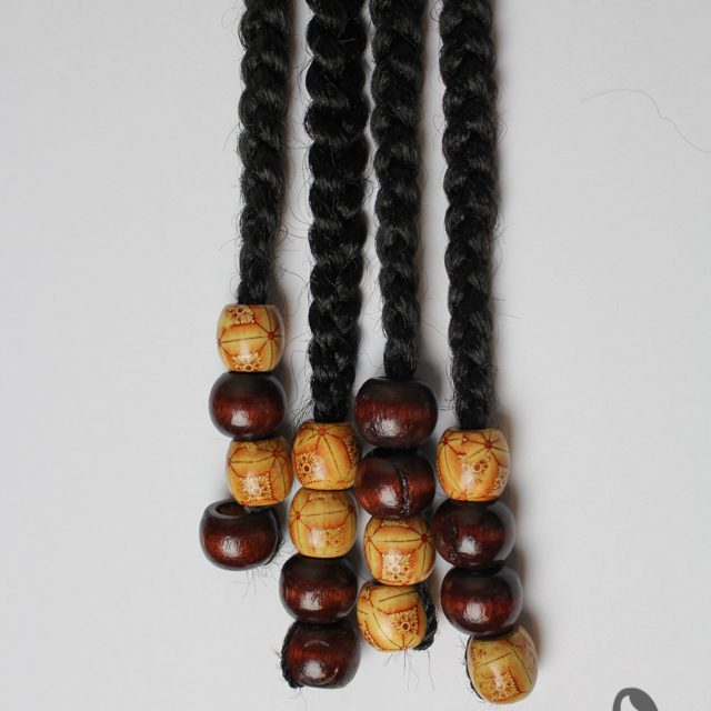 large hair beads brown bounty wooden beads