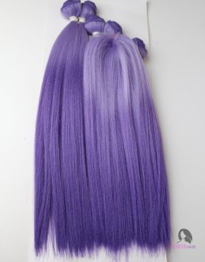 ombre purple straight human hair blend weave weft