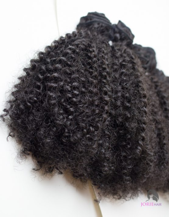 afro kinky weave close up