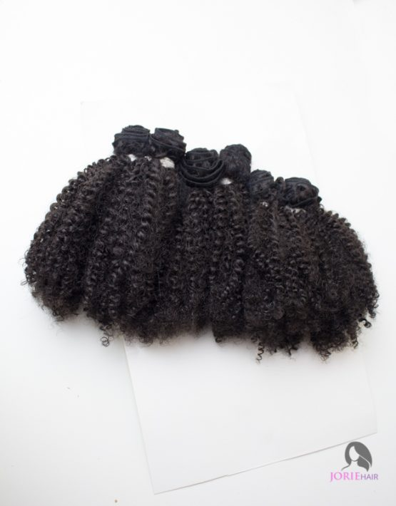 afro kinky human hair blend weave weft
