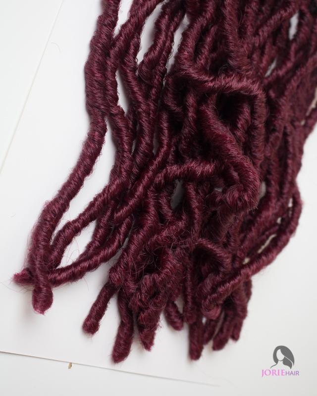 Kinky Crochet Faux Locs 18 Ombre Burgundy Jorie Hair
