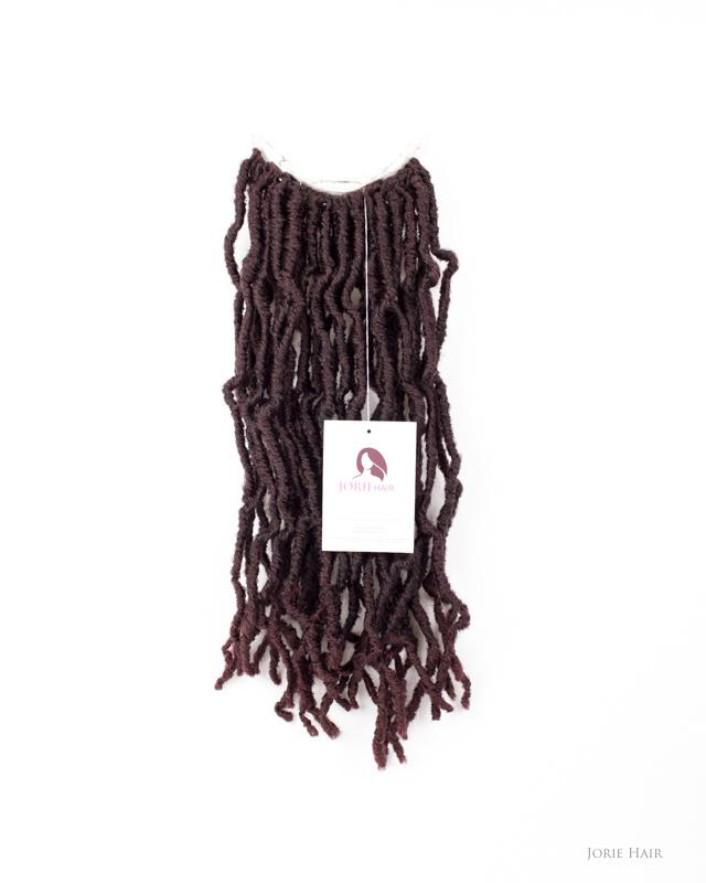Kinky Crochet Faux Locs 18″ Ombre Burgundy#