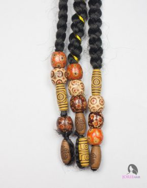 wooden hair beads desert sands