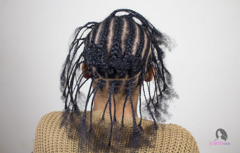 crochet faux locs individual braid pattern back