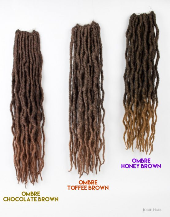 showing colour difference in locs