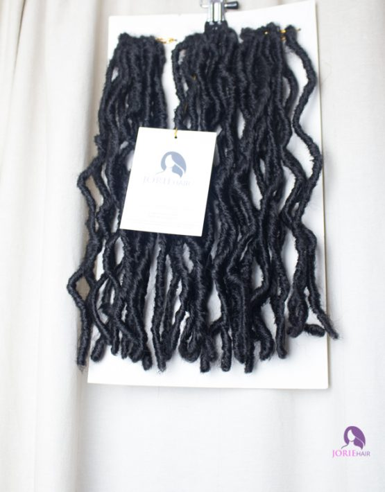 crochet faux locs short bob 1B black