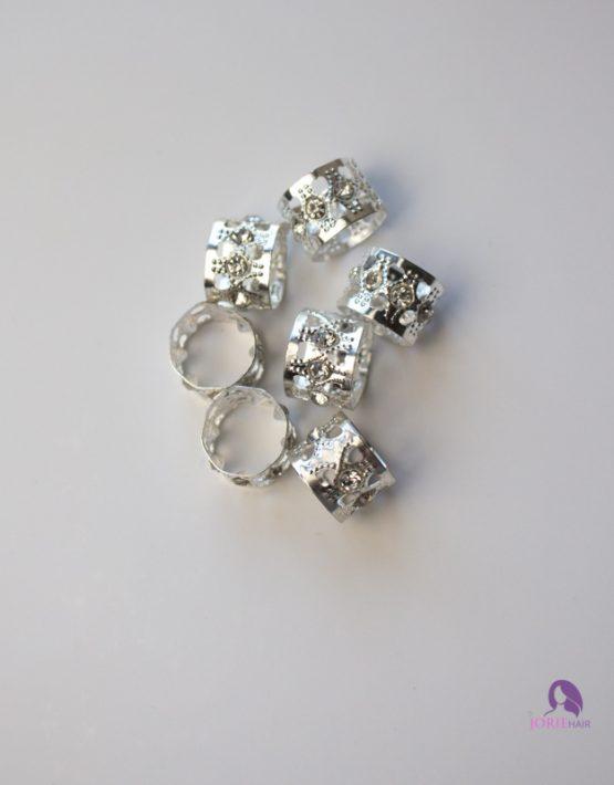 hair cuff with rhinestones silver