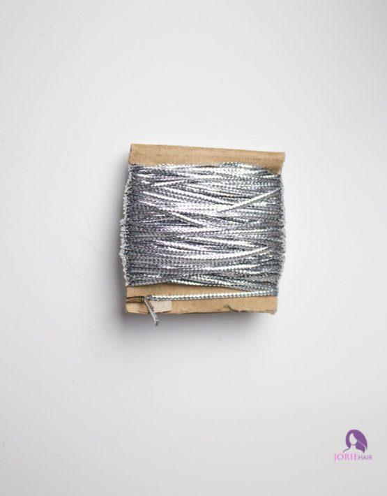 hair string cord silver