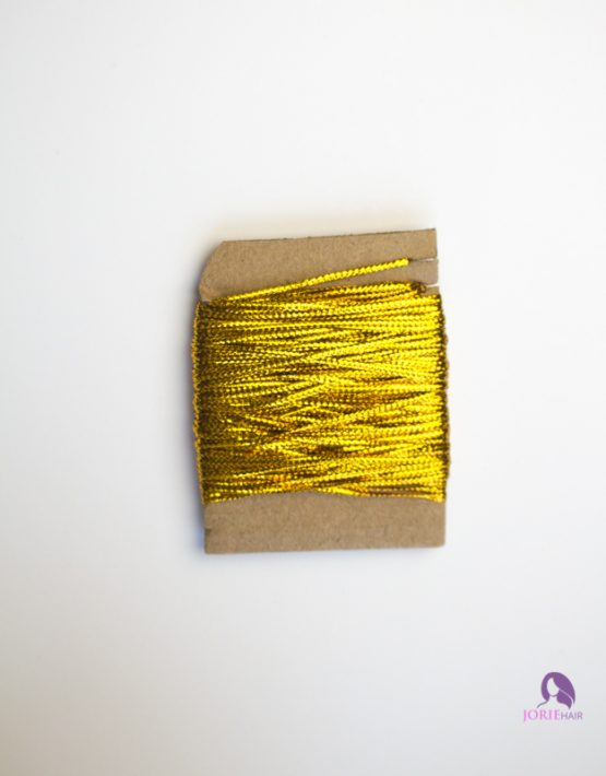 hair string cord gold