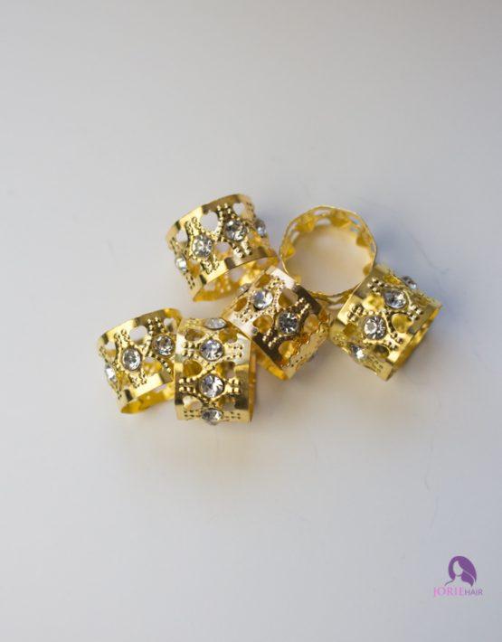hair cuff with rhinestones gold