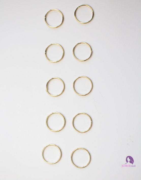 hair rings plain