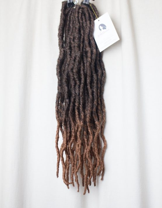 thick faux locs crochet ombre brown