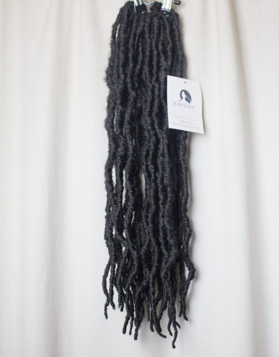 thick faux locs crochet black 1B