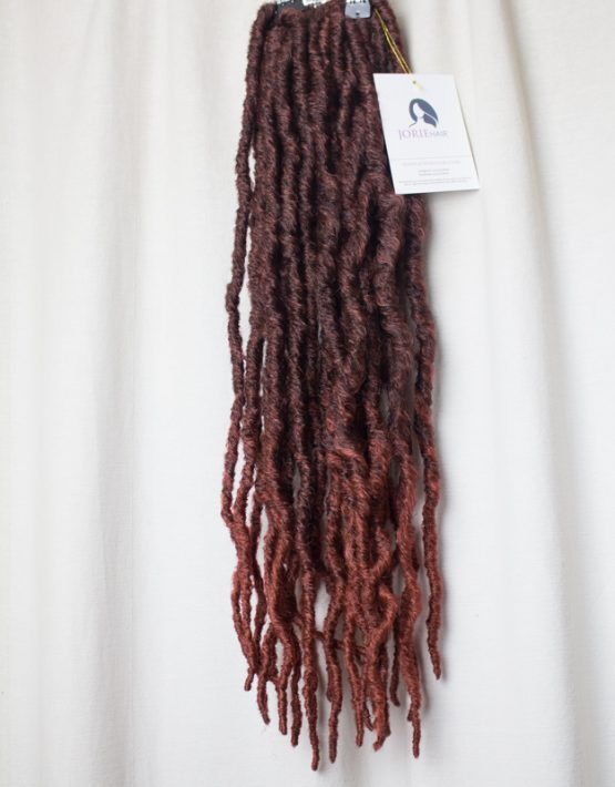 thick faux locs crochet ombre copper