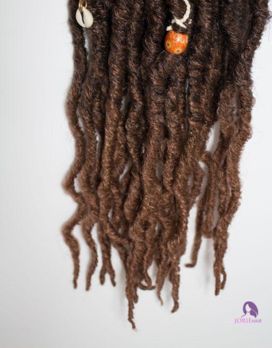 thick locs ombre chocolate brown tips