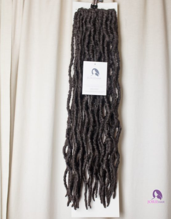 thick faux locs crochet dark brown