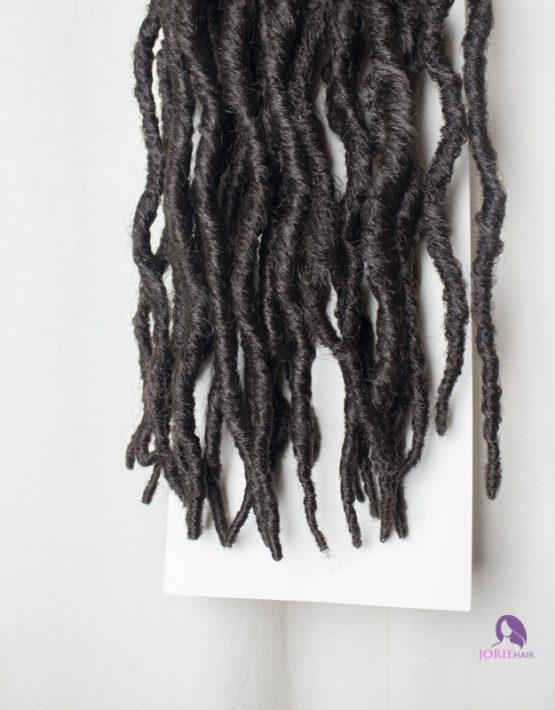thick faux locs crochet dark brown ends