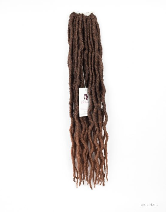 thick faux locs crochet ombre chocolate brown