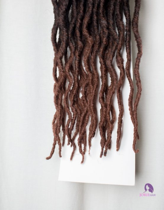 thick faux locs crochet ombre chocolate brown ends