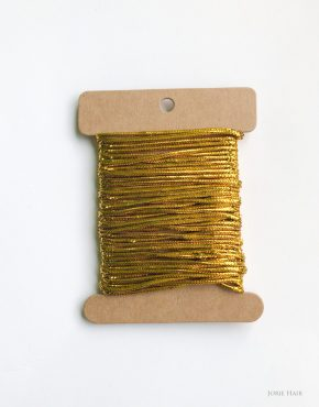 elastic cord hair string gold