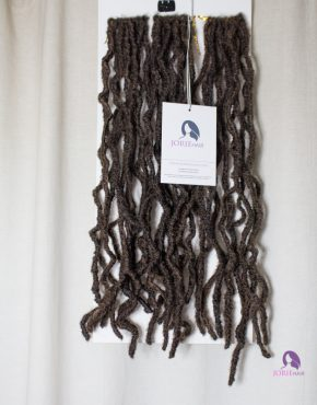 crochet faux locs hair gold dark brown