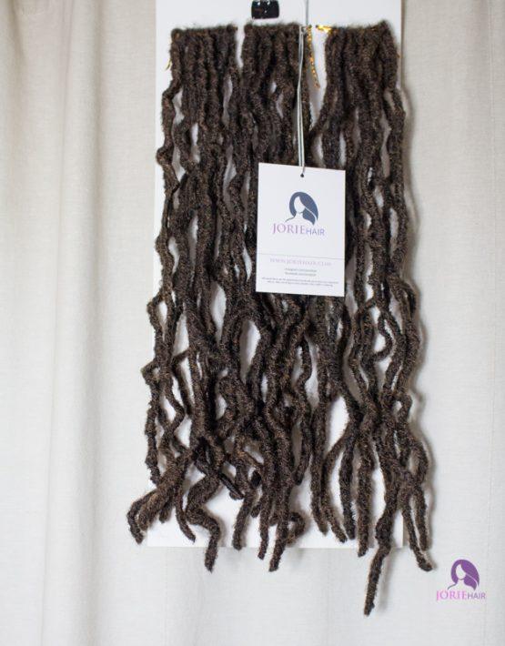 crochet faux locs hair gold dark brown