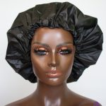 extra large shower cap with satin