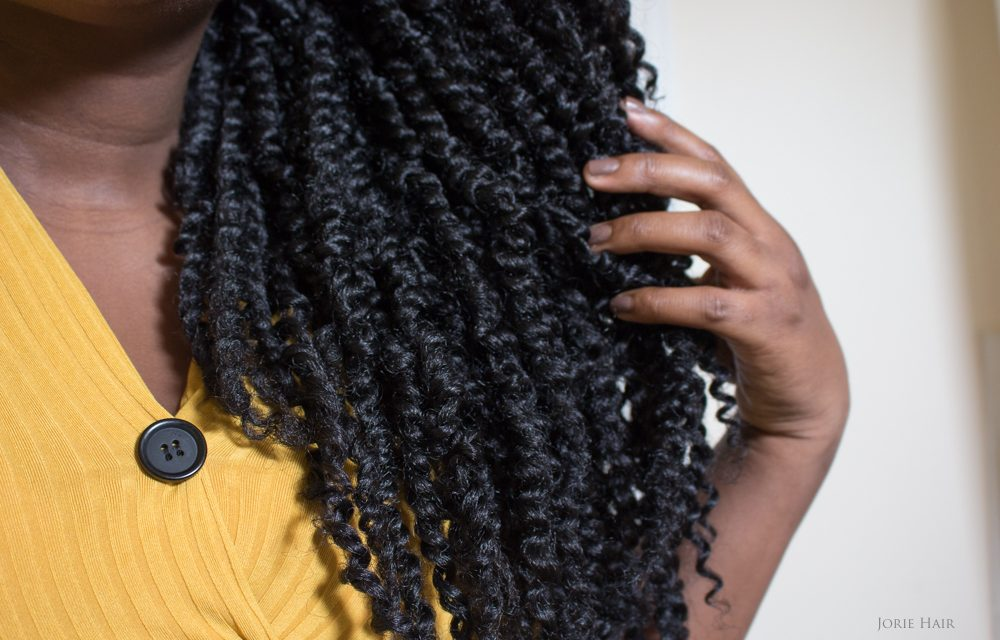 textured passion twists ends shot