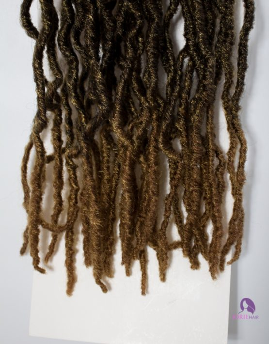 crochet faux loc hair ombre brown tips 30:27